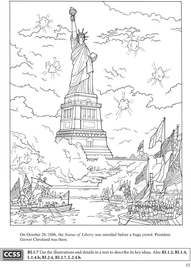 Ellis Island Page Coloring Pages