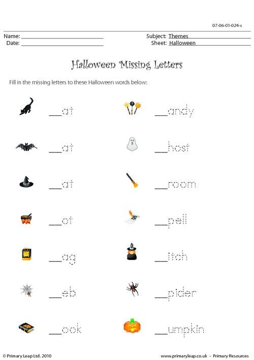17 Best images about Halloween Printable Worksheets