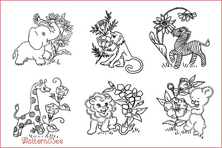 17 Best images about Wild Animal Embroidery Patterns on
