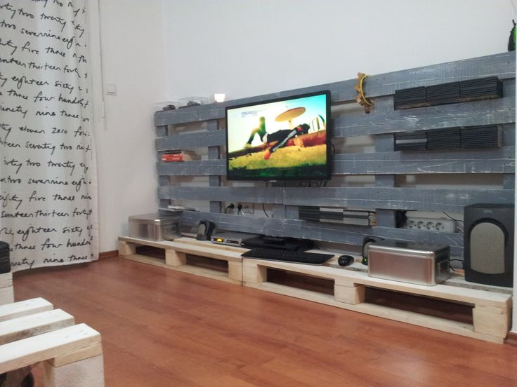 TV Stand From Used Pallets Homemade Furniture