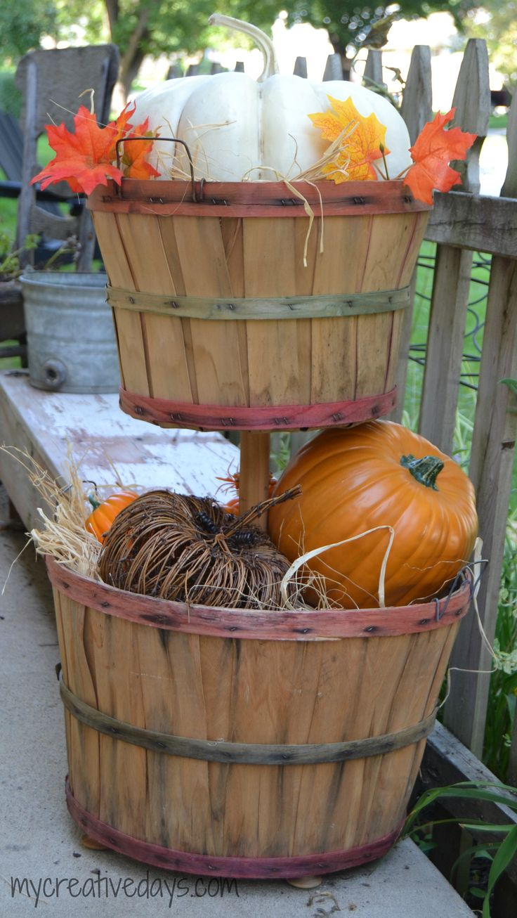 25 Best Ideas about Bushel Baskets on Pinterest  Fall decorating Harvest decorations and