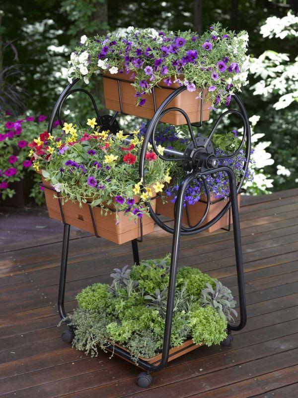 decorative planters ferris wheel
