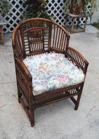 Vintage Brighton Style Rattan Bamboo Chair, Asian ...