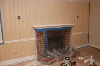 wood paneling with chair rail...AFTER | CBC | Pinterest ...
