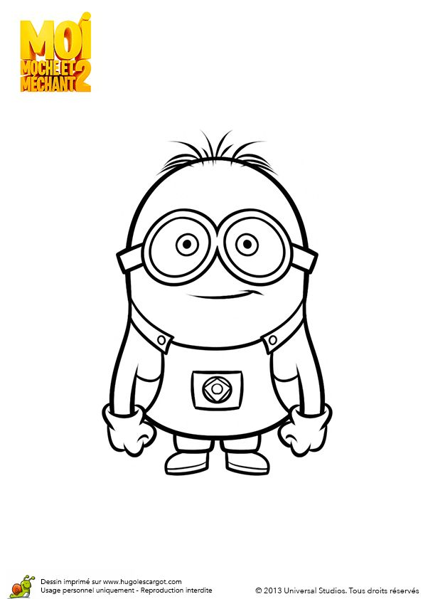 12 best images about Coloriages des minions on Pinterest