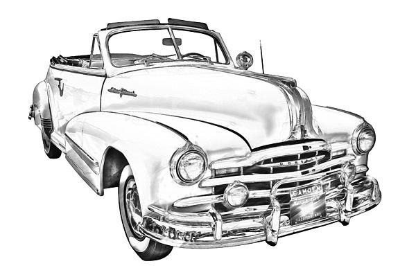 1948 Pontiac Silver Streak convertible antique car digital