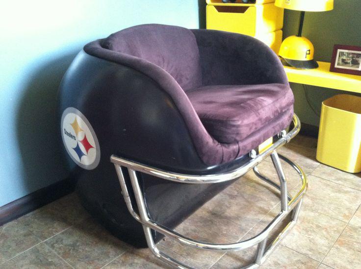 Pittsburgh Steelers helmet chair  Vintage Pittsburgh