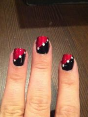 1000 ideas red black nails