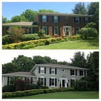 Before And After Pictures Of Exterior Painted Brick | Joy ...