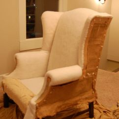 Diy Reupholster Living Room Chair Ideas With Sectionals How To A Wingback | Chairs