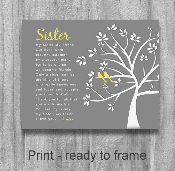 SISTER GIFT My Sister My Friend Personalized Sister Gift