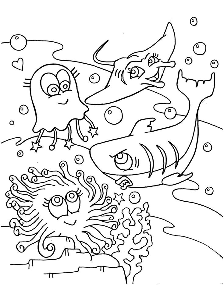 97 best images about Under the Sea Coloring or Painting