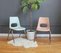 Eames Era Pink & Blue Brunswick Fiberglass Kids Chairs ...