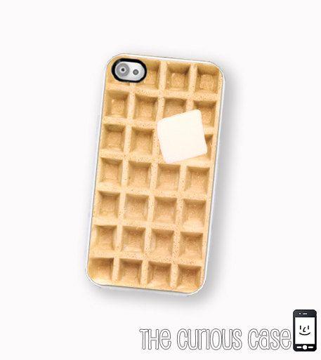 iPhone Case Waffle / Hard Case For iPhone 4 and iPhone 4S Kawaii Breakfast Food. $17.99, via