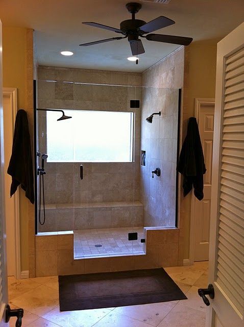 Master Bathroom Remodel With Double Shower Love This