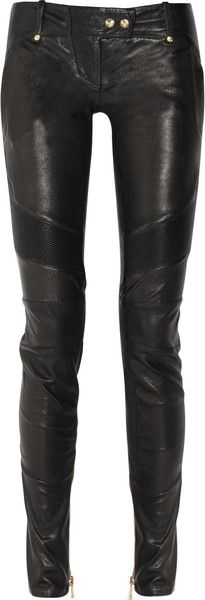 There they are! Black Balmain Skinny Leather Pants in Black – Lyst… only $3500. Poo :(