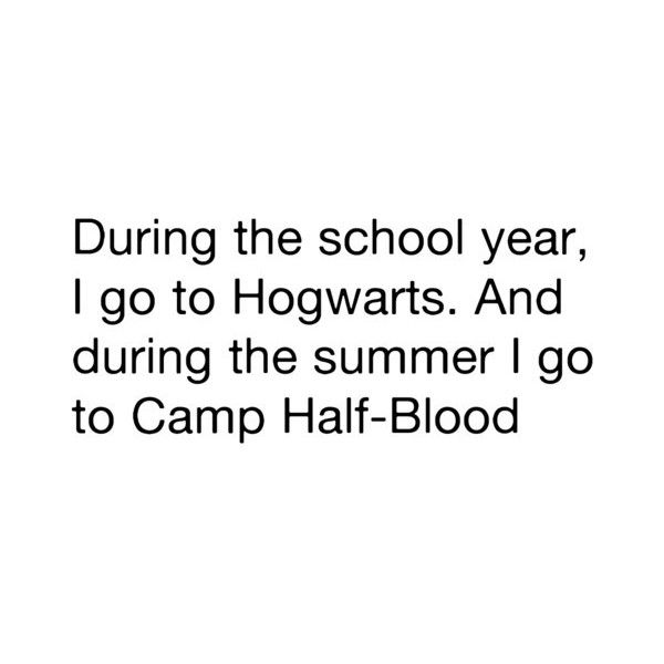 Hogwarts//Camp Half-Blood Harry Potter//Lightning Thief