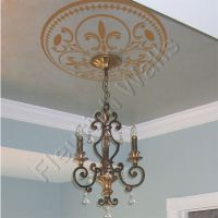 Ceiling Medallion - Vinyl Ceiling Decal - Shabby Chic ...