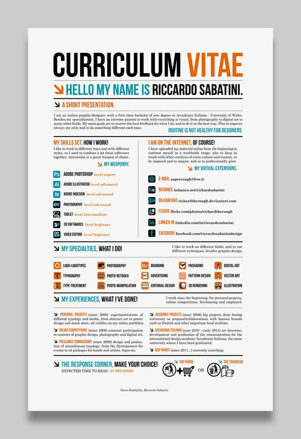 28 Amazing Examples of Cool and Creative ResumesCV  Creative Creative resume and Design
