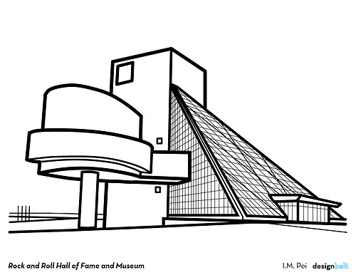 Rock and Roll Hall of Fame and Museum 1995 I.M. Pei