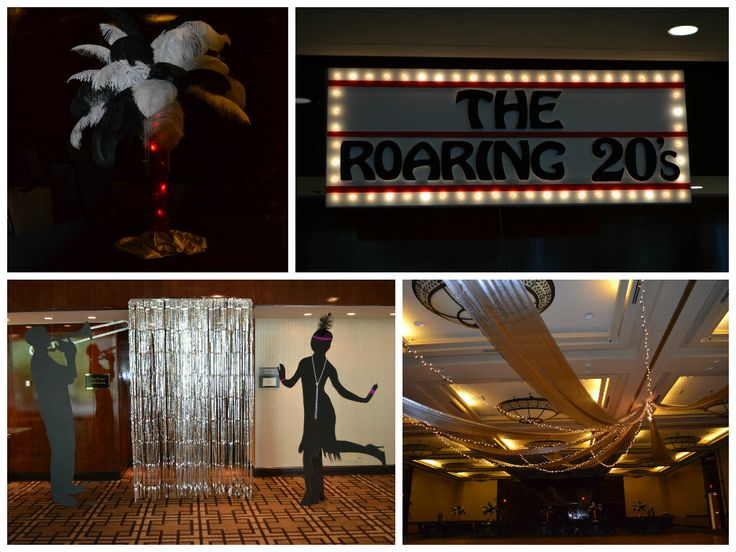 The Roaring 20s themed party by wwwidealpartydecorators