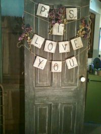 Door Knob Crafts Ideas | Old farmhouse door with porcelain ...