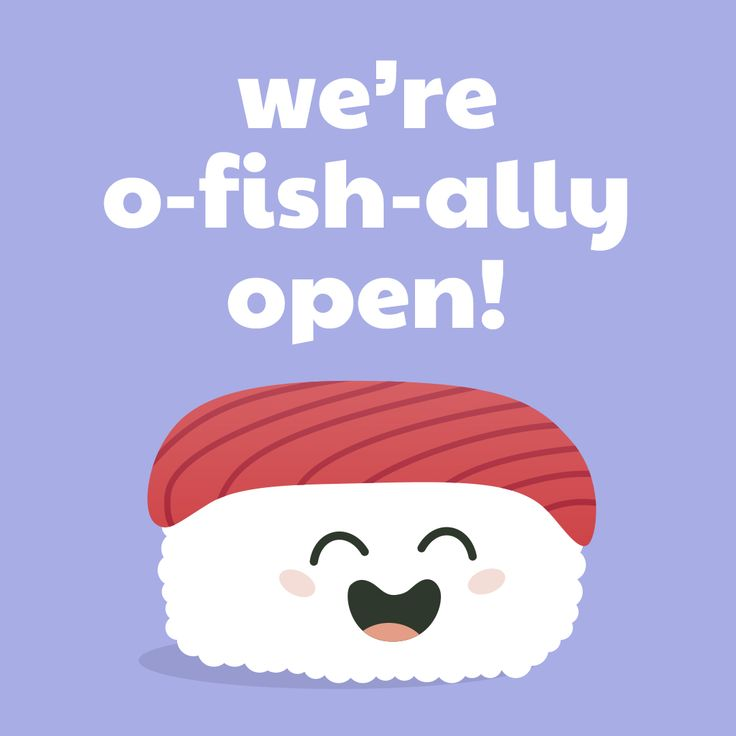 "Sushi Moji's Cute Tuna Nigiri ""we're O Fish Ally Open"