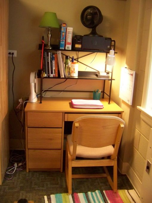 buy a hutch to put on top of desk brilliant  Dorm Room