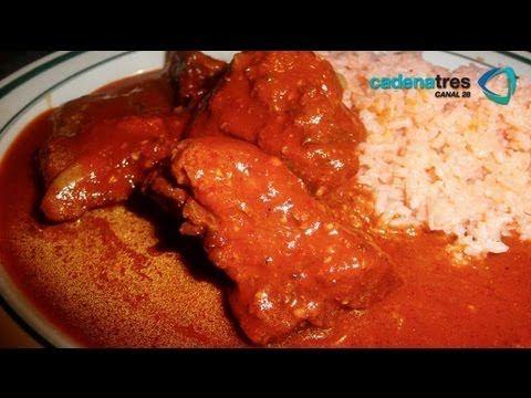 Receta de costillitas con salsa de chiles Receta fcil de