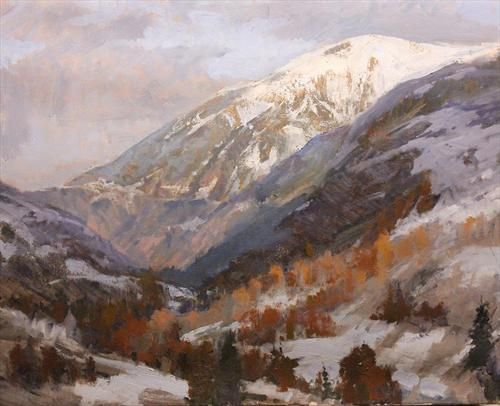 170 Best Images About Paintings: Mountains On Pinterest