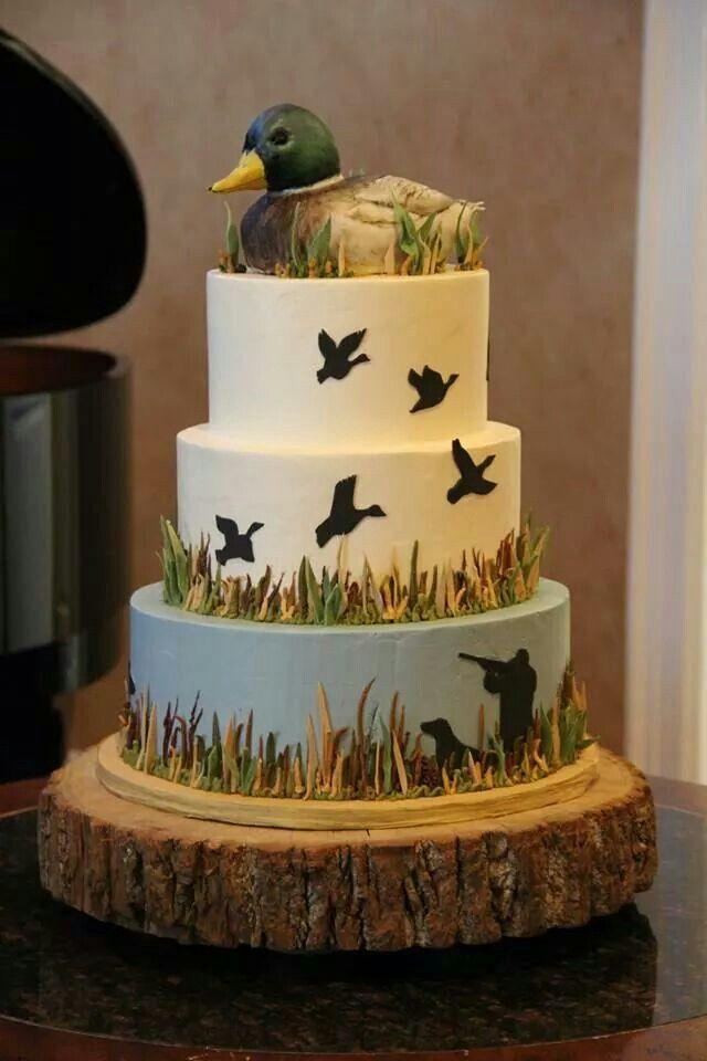 Duck hunter cake  Wedding ideas  Pinterest  Hunters Cakes and Nice