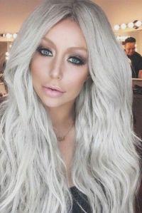 Grey hair - Aubrey oday | Hair & Makeup | Pinterest ...