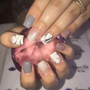 classic short square acrylic nails