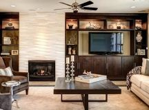 off center fireplace - Google Search | Living Rooms ...