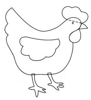 Chicken Chook Coloring Pages