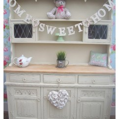 Painted Round Kitchen Table Step Stools Shabby Chic Oak Welsh Dresser - I Love This!!! Would ...