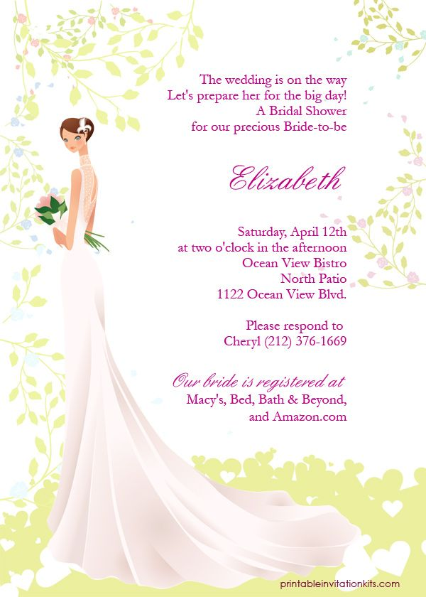 free bridal shower invitation templates