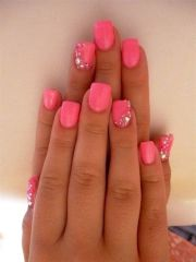 pink with touch of sparkle.nails