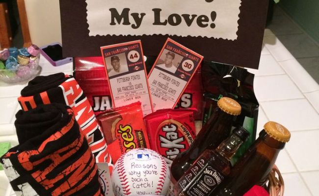 Sf Giants Baseball Gift Basket For My Boyfriend S Birthday