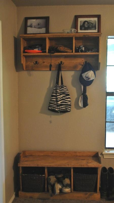 Entryway Shelf and bench Make this shelf  DIY For the house  Pinterest  Bags Entry ways
