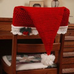Crochet Christmas Chair Covers Hire Cost Free Pattern For A Santa Hat Chair-back Cover. This Offer Expires On December 10th ...