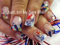 Patriotic acrylic nails | Nail Bling | Pinterest | Acrylic ...