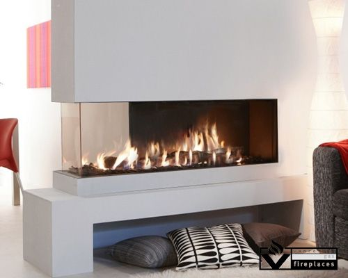 This Frameless Peninsula Fireplace Features A Full View At