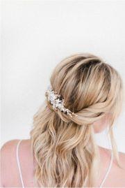 medium length bridal hair