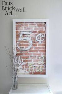 Faux Brick Wall Art | Project ideas, Creative and Faux ...