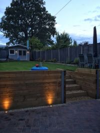 17 Best images about Backyard retaining wall and steps ...