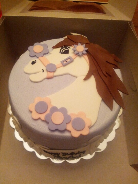 Horse Cake For A Sweet Two Year Old Girl My Cake