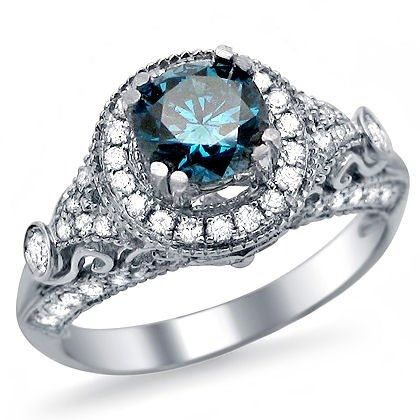 17 Best ideas about Blue Diamond Rings on Pinterest  Blue wedding rings Blue rings and Blue