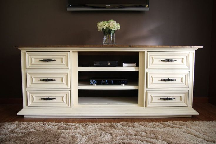 Our New Entertainment Center made From an Old Dresser  Entertainment units Furniture and