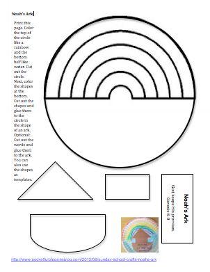 Noah ark, Sunday school crafts and School craft on Pinterest